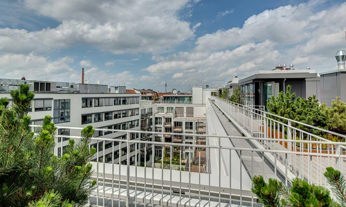 Nymphenburger Höfe Ansicht Dach