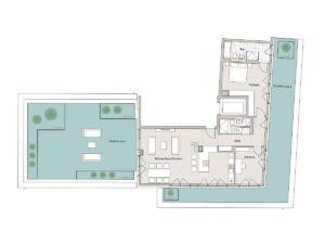 Hochufer Grundriss: 3-Zimmer Penthouse