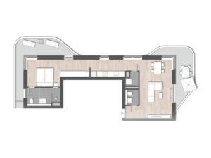 InTower Grundriss: 2-Zimmer