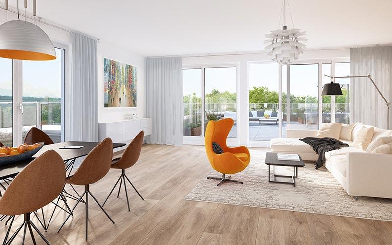 Penthouse in München - Projekt Hochufer