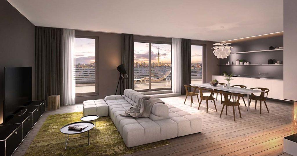 Penthouse-Beispiel im Berliner Projekt LIVINGSTONE