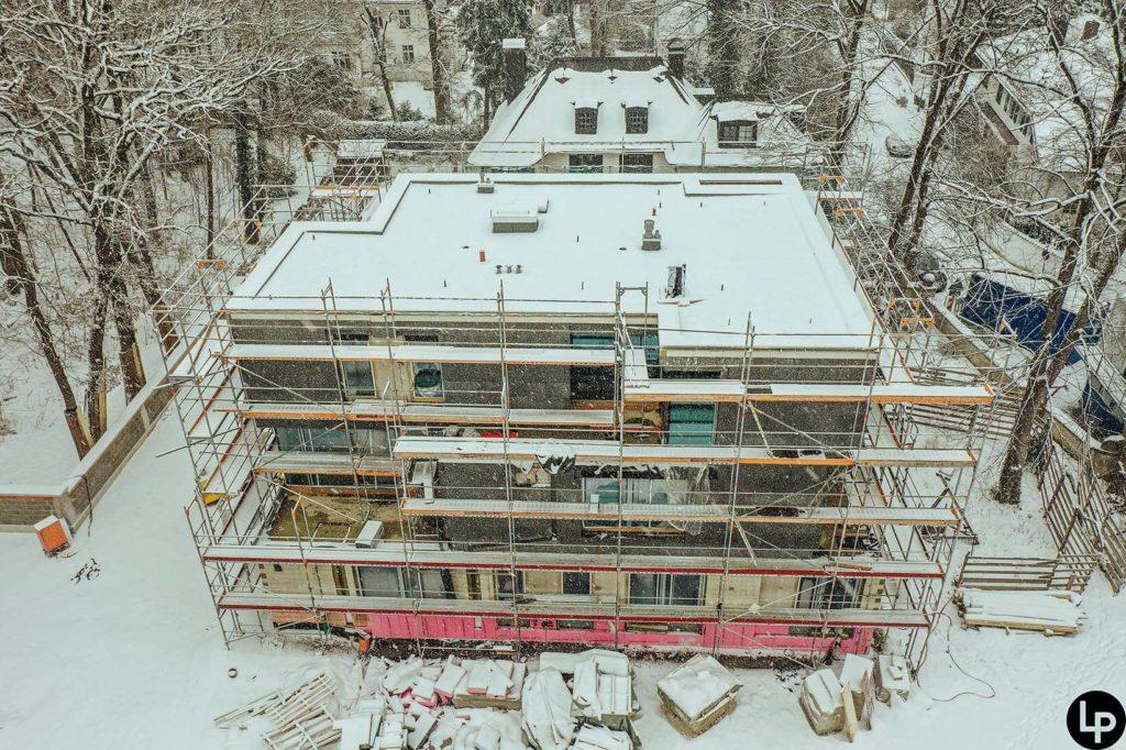 Winterlicher Blick auf das Projekt Will No 16